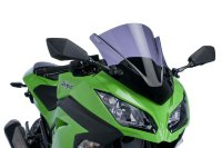 EX 300 B (Ninja 300) 2015- стекло Racing Dark Smoke Puig